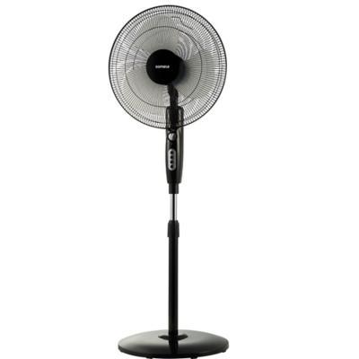 "Ventilador de pedestal 16"" gris"