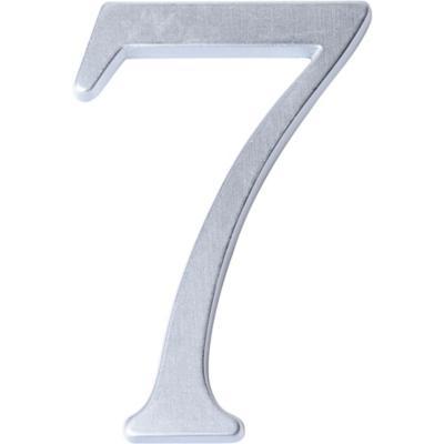 Número para casa #7 cromado satín
