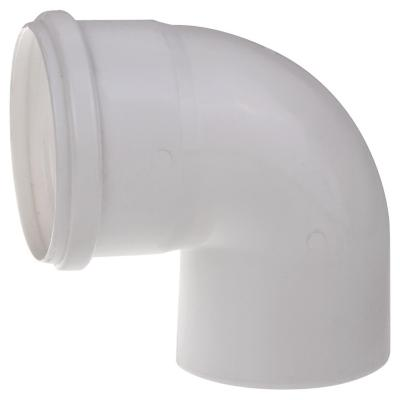 Codo 87,5o PVC-S Bco c/goma 160mm Blanco 1u