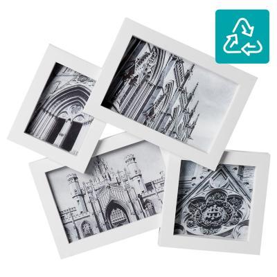 Marco para foto 26x25 cm 4 fotos blanco
