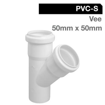 Vee PVC con goma 50x5x50 mm