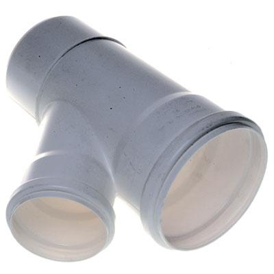 Vee Reducción PVC-S Bco c/goma 110mm x 40mm Blanco 1u