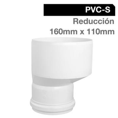 Reducción PVC-S Bco c/goma 160mm x 110mm Blanco 1u