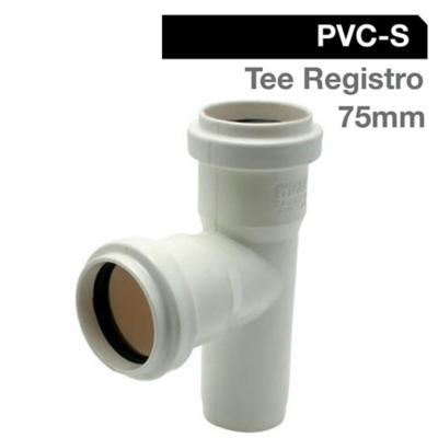 Tee Registro PVC-S Bco c/goma 75mm Blanco 1u