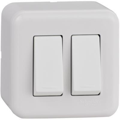 Interruptor doble (9/15) de sobreponer 16 A Genesis