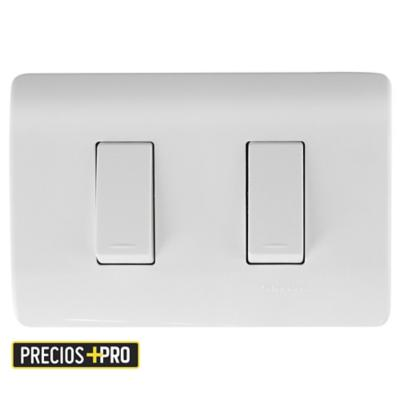 Interruptor doble (9/15) 16 A Blanco Genesis