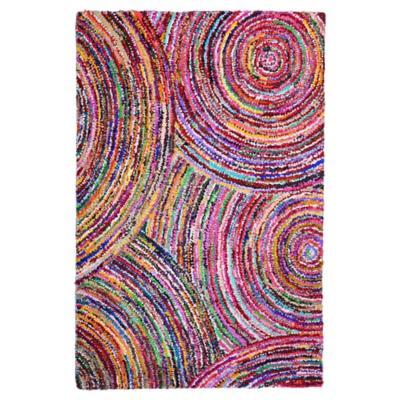 Alfombra circular 120x170 cm multicolor