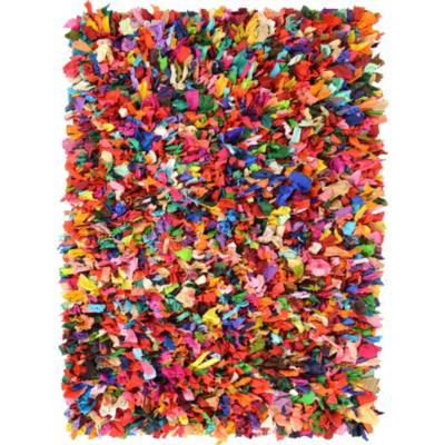 Alfombra flecos 120x170 cm multicolor