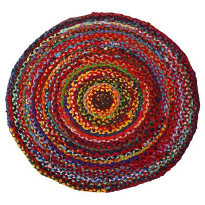 Alfombra redonda Surkanda 90 cm multicolor