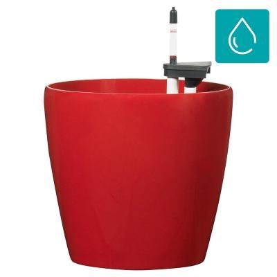 Macetero autorregante de polipropileno 32x30 cm rojo
