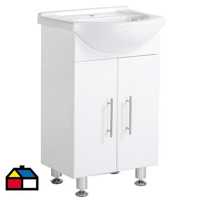 Mueble vanitorio 50x82x42 cm Blanco