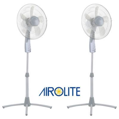 """Ventilador de pedestal 16"""" blanco/gris + Ventilador de pedestal 16"""" blanco/gris"""