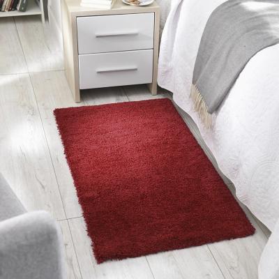 Bajada de cama shaggy delight cosy 60x115 cm rojo