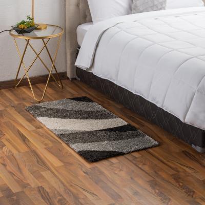 Bajada de cama noblese 60x115 cm negro/gris