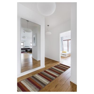 Alfombra pasillo original rayas 50x200 naranjo/crudo