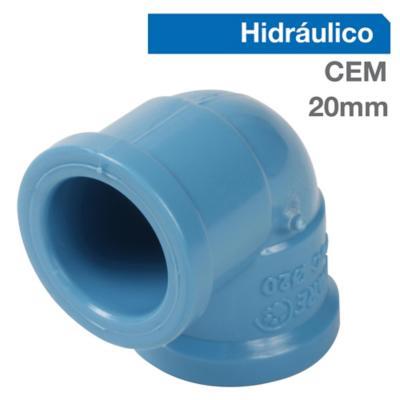Codo 90o PVC-P Cementar 20mm  1u