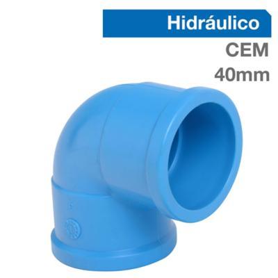 Codo 90o PVC-P Cementar 40mm  1u