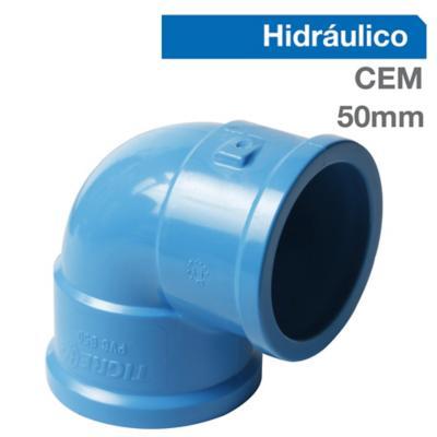 Codo 90o PVC-P Cementar 50mm  1u