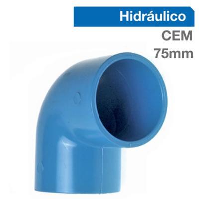 Codo 90o PVC-P Cementar 75mm  1u