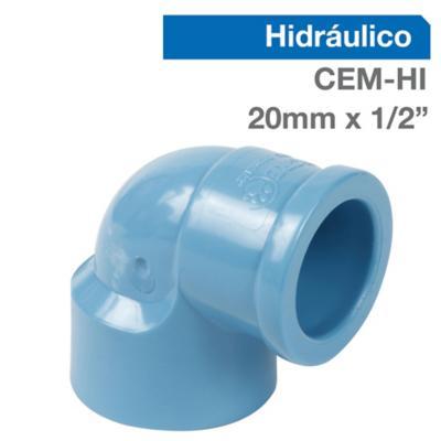 """Codo PVC para cementar 1/2""""20 mm"""