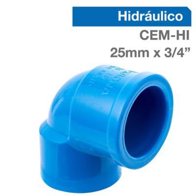 """Codo PVC para cementar 3/42""""x25 mm"""