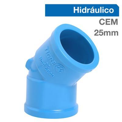 Codo 45o PVC-P Cementar 25mm  1u