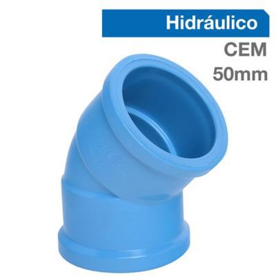 Codo 45o PVC-P Cementar 50mm  1u