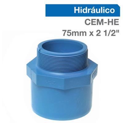 """Terminal PVC para cementar 2 1/2""""x75 mm"""