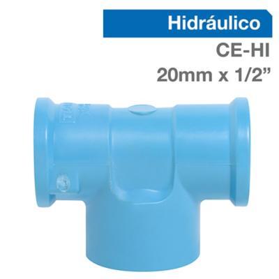 """Tee PVC para cementar 1/2"""" 20 mm"""