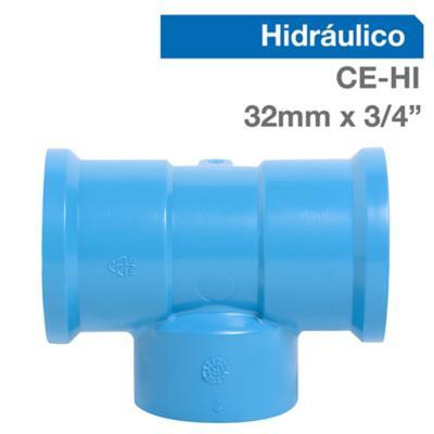 "Tee Trans PVC-P CE/HI 32mm x 3/4"" 1u"