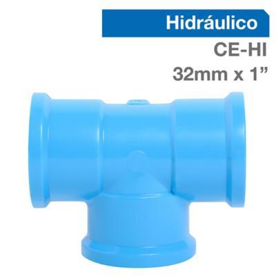 """Tee PVC para cementar 1"""" 32 mm"""