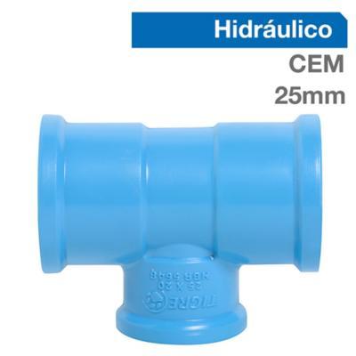 Tee Reducción PVC-P Cementar 25mm x 20mm 1u