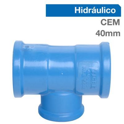 Tee PVC para cementar 40x32 mm