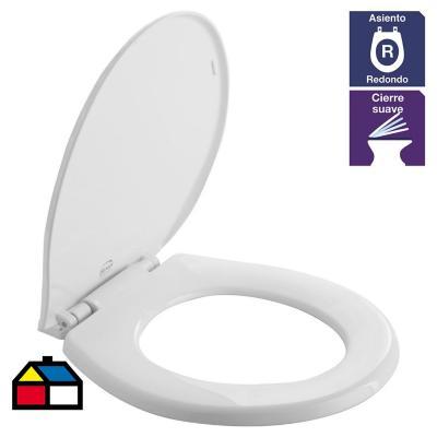 Asiento WC redondo plástico blanco