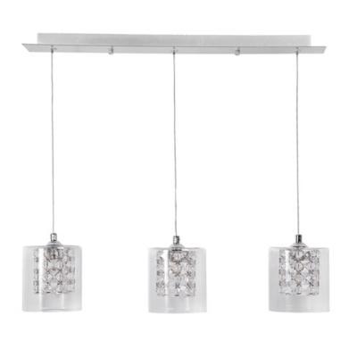 Lámpara de colgar Metal y Vidrio Cristales Transparente