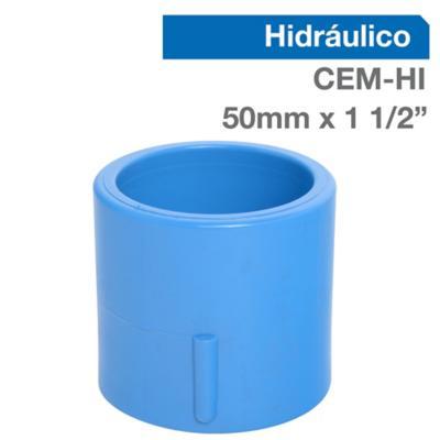 "Terminal PVC-P CEM/HI 50mm x 1 1/2"" 1u"