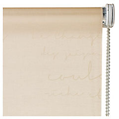 Cortina enrollable Letras 105x190 cm beige