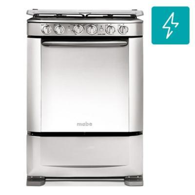 Cocina a gas 4 quemadores 66,5 litros silver