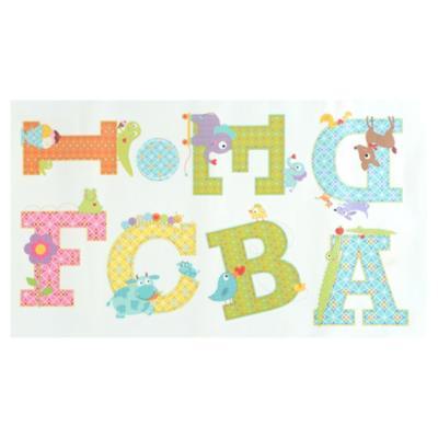 Sticker decorativo alfabeto animal 26 unidades