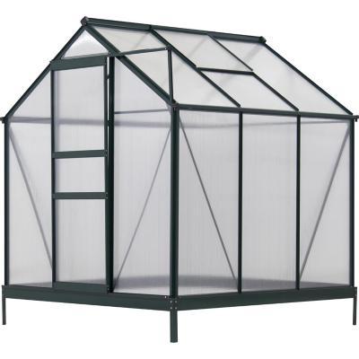 Invernadero 190x192x201 cm de policarbonato verde