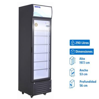 Visi-Cooler 1 puerta 290 litros negro
