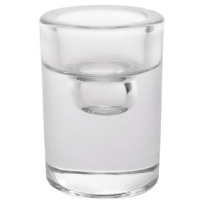 Portavela tealight 8,3 cm transparente