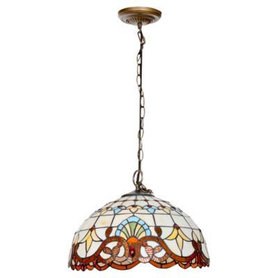 Lámpara de colgar Vidrio y Metal Tiffany Café