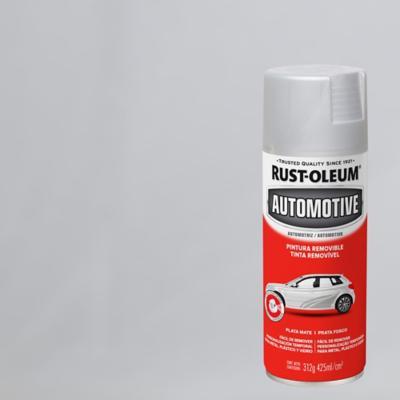 Pintura temporal en spray para auto mate 340 gr plata