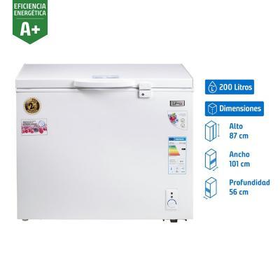 Congelador industrial horizontal 200 litros blanco
