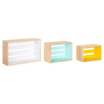Set de repisas rectangulares MDF 50,5x65 cm 3 unidades