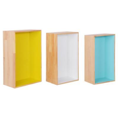 Set de cubos pino 3 unidades