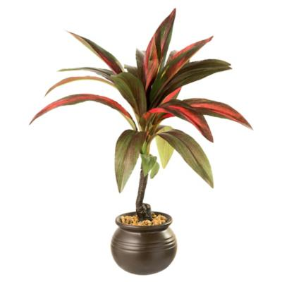 Cordyline artificial 30 cm con macetero