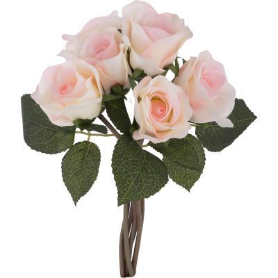 Rosa artificial 26 cm Rosado
