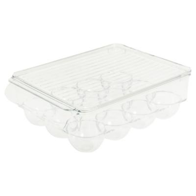 Organizador de huevos para refrigerador 7,6x15,8x22,2 cm acrílico